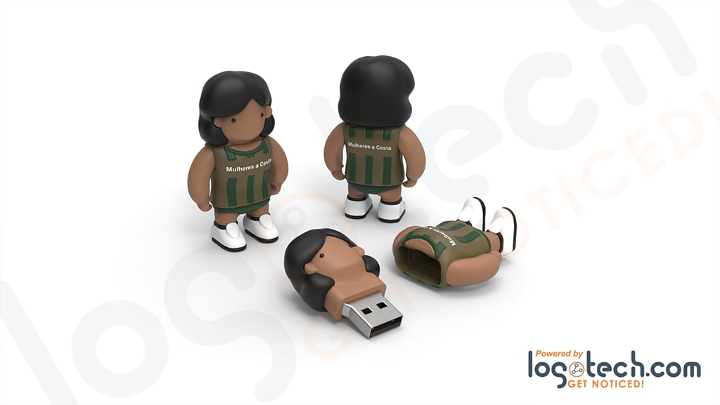 Female Basketball Player USB Flash Drive