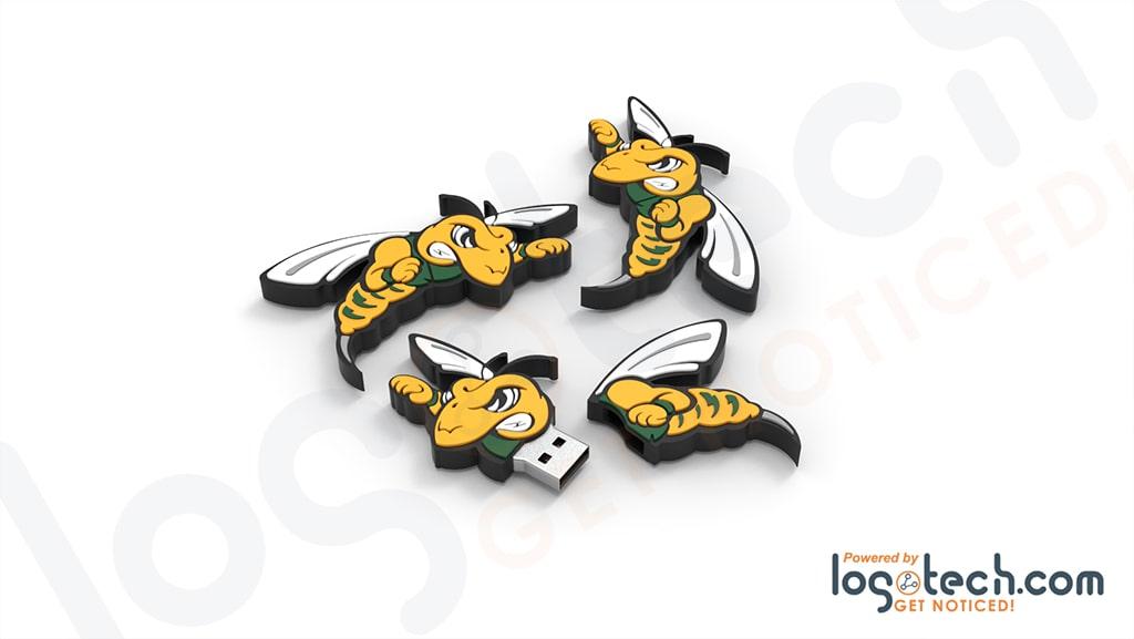Bee Mascot USB Flash Drive