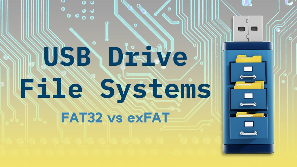 Flash memory and USB drive file systems
