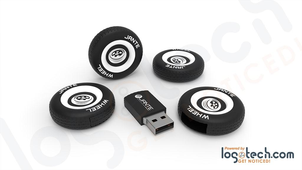 Tire and Wheel USB Flash Drive