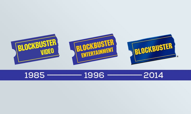 Blockbuster Logo Changes